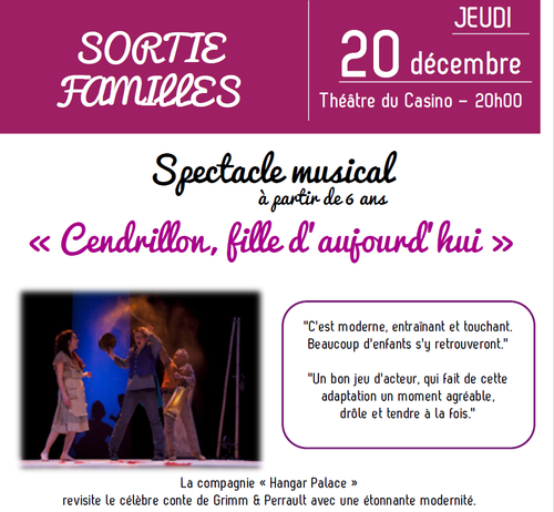 SORTIE FAMILLE: Spectacle